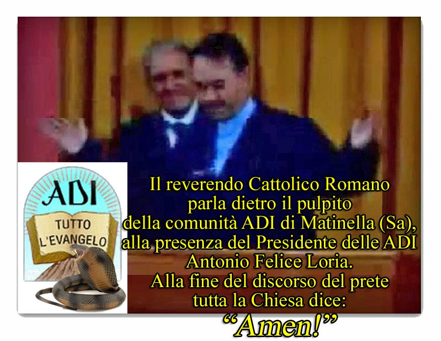 Renato Mottola, pastore ADI, col reverendo cattolico romano Carlo