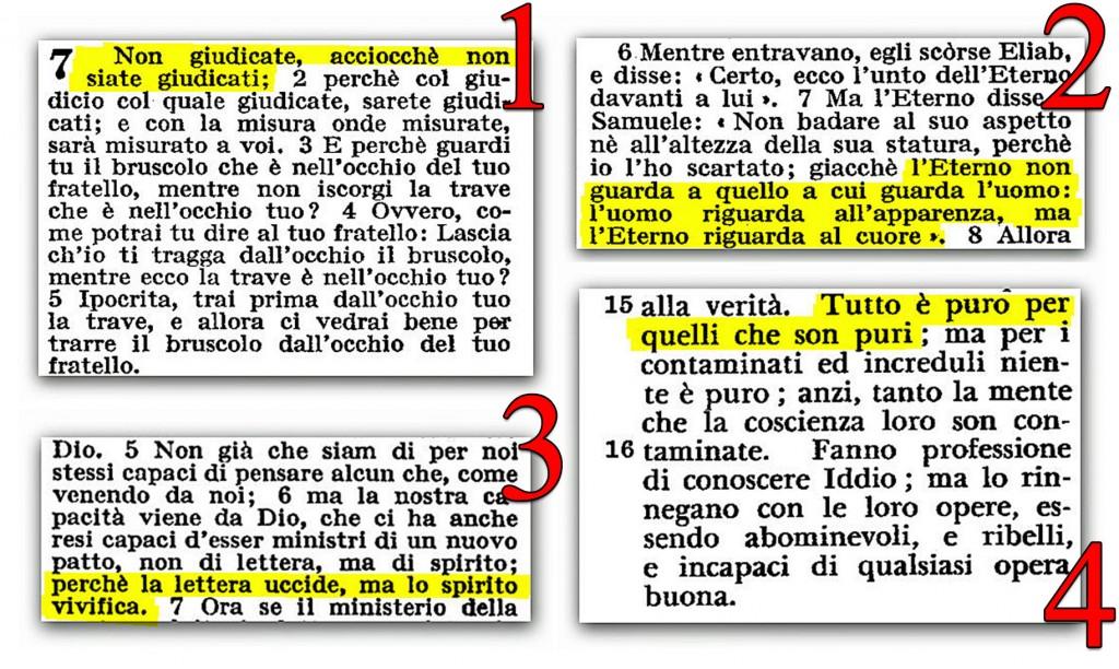 Amato ○ 4 versetti biblici molto usati dai ministri di Satana  XR13
