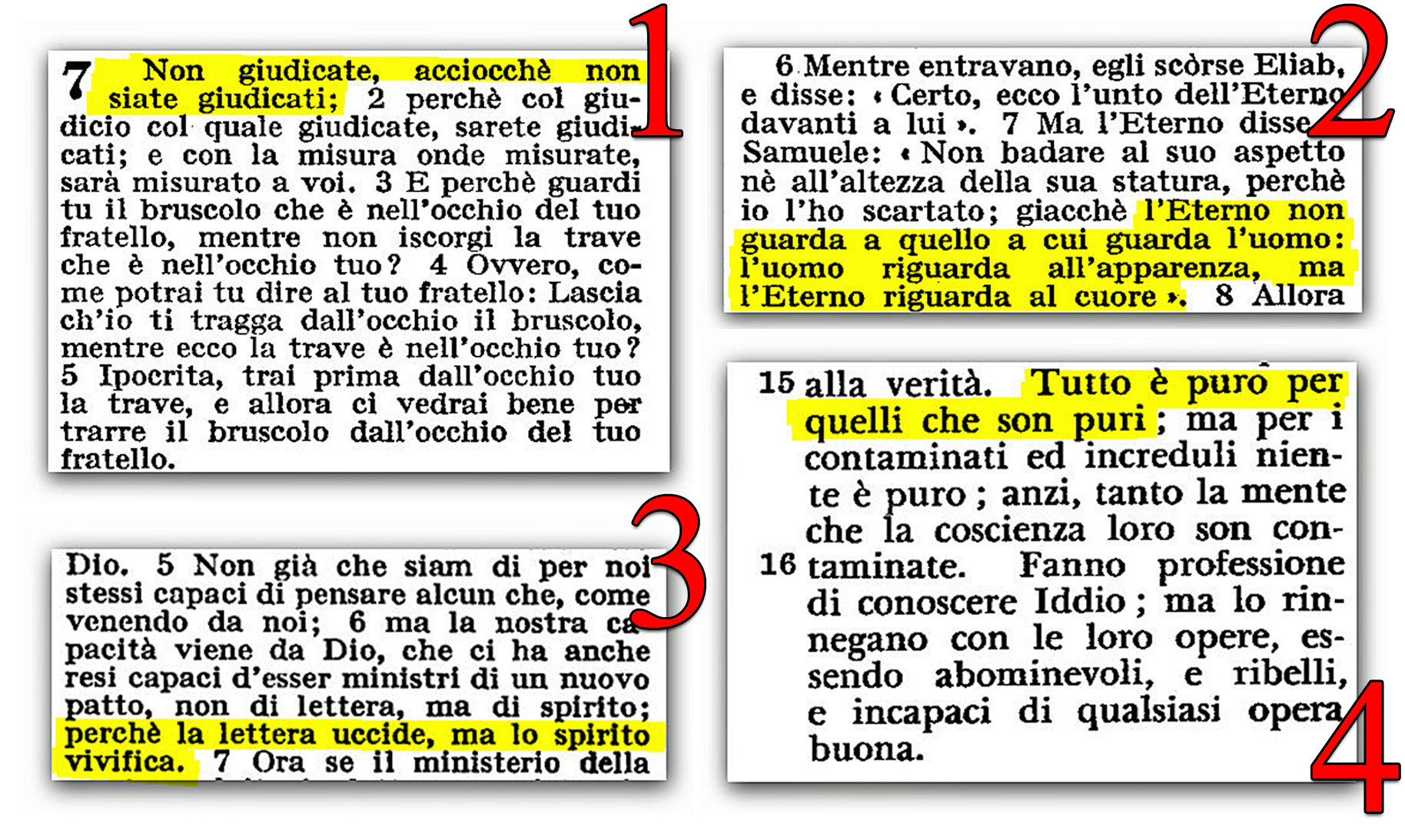 ● 4 versetti biblici molto usati dai ministri di Satana (messaggio audio)