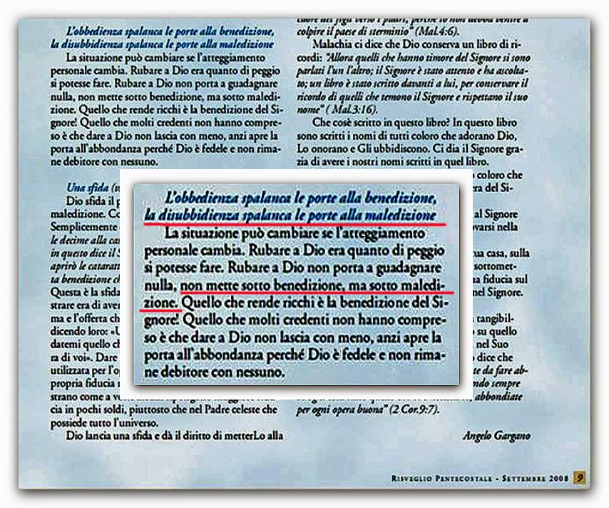 ● Sono maledetti quei Cristiani che non pagano la decima? (Audio)