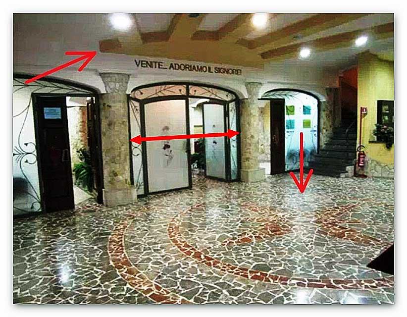 ● Chiesa ADI di Catania: simbolo occulto-massonico dentro il locale di culto