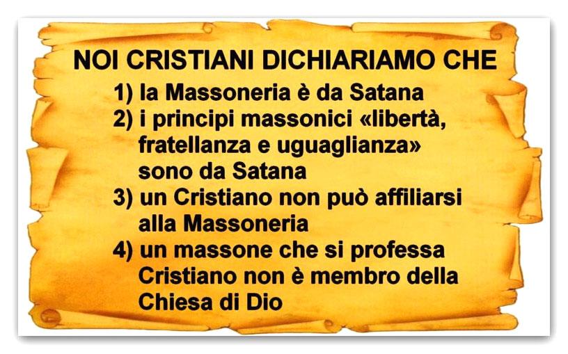 ● NOI CRISTIANI DICHIARIAMO CHE …